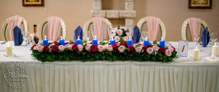 """Сватба в син и пудра цвят от  """"Плам Студио"""""""